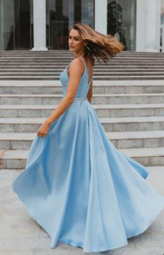 Linz PO896 Evening Dress by Tania Olsen in Light Blue