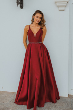Linz PO896 Evening Dress by Tania Olsen in Red