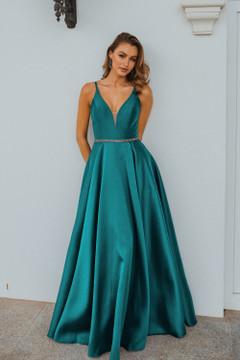 Linz PO896 Evening Dress by Tania Olsen in Emerald