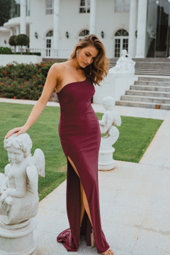 Beckley PO902 Evening Dress by Tania Olsen in Plum
