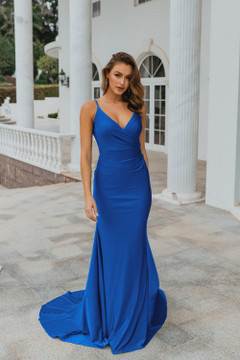 Lima PO901 Evening Dress by Tania Olsen in Cobalt