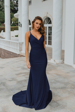 Lima PO901 Evening Dress by Tania Olsen in Navy