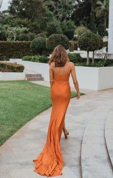 Manila PO900 Evening Dress by Tania Olsen in Burnt Orange