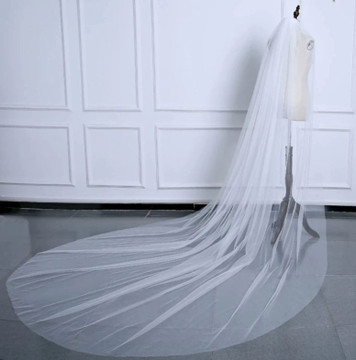 Double Layer Tulle Cathedral  Veil 3M