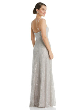 Metallic Lace Trumpet Dress with Adjustable Spaghetti Straps TH061 By Thread Bridesmaids in 8 colors