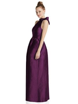 Bowed High-Neck Full Skirt Maxi Dress with Pockets TH076  By Thread Bridesmaids in 32 colors