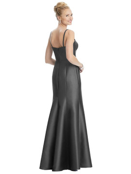 Bustier Bodice Satin Trumpet Gown by Alfred Sung D787 in 33 colors