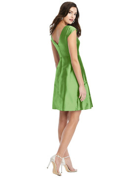 Cap Sleeve Pleated Skirt Cocktail Dress with Pockets By Alfred Sung D783 in 33colors