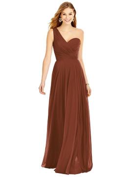 One-Shoulder Draped Chiffon Maxi Dress - Dani Thread Bridesmaid Style TH025