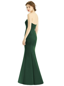 Sweetheart Strapless Satin Mermaid Dress by  After Six 1532 available in 74 colors shown in Mocha