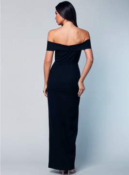 Gia Off the Shoulder Pencil Dress By Samantha Rose in Wine in size 12 ( please note: only available in wine)