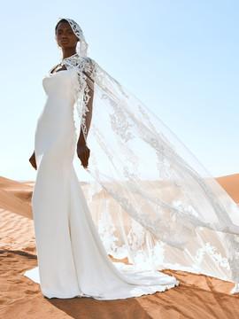 Garni Wedding Cape by Pronovias Barcelona Bridal