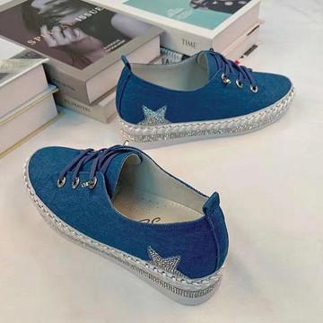 Genni Denim &  Leather Canvas Sneakers