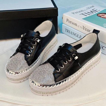 SKY leather crystal sneakers by Ameise in 8 colors in black