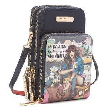 Nicole Lee Journey of Stephanie Multi-functional Touch Screen Cell Phone Crossbody by Ameise
