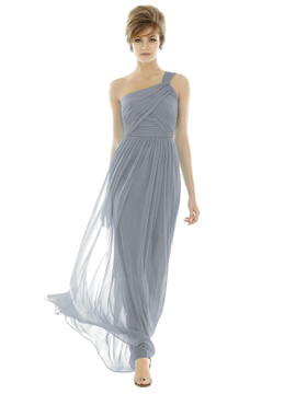 One-Shoulder Asymmetrical Draped Wrap Maxi Dress TH106 By Thread Bridesmaids in 18 colors