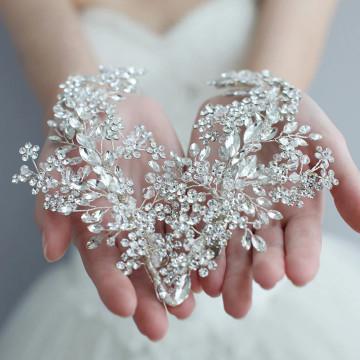 Nina Silver Rhinestone Bridal Headpiece
