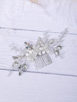 Romantic Silver Flower Bridal Headpiece (MITIARA24)