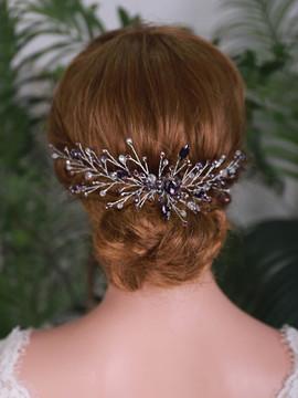 Romantic Purple Rhinestones Hairpiece (MITIARA26)
