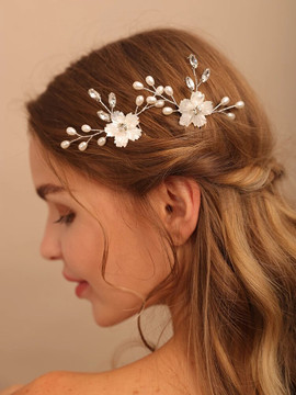 Beautiful Silver Flower Wedding Hair Pins