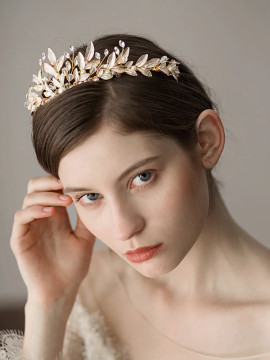Vintage Aristocratic Gold Bridal Tiara (MITIARA29)