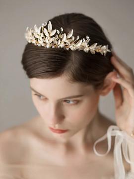 Romantic Vintage Aristocratic Gold Bridal Tiara
