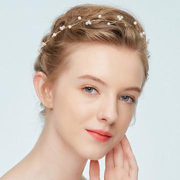 Minimalist Graceful Bridal Pearl Hairband ( MITIARA32)