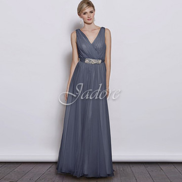 Aria Dress In Steel Blue