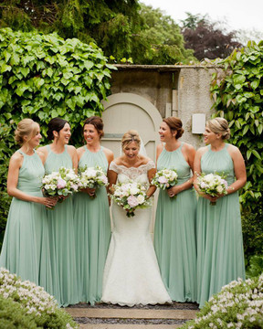 After Six Bridesmaid Dress Style 6760 in seagras