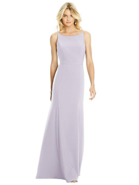 Bateau Neck Open-Back Trumpet Gown by After Six Bridesmaid Dress 6758 in 33 colors in moondance