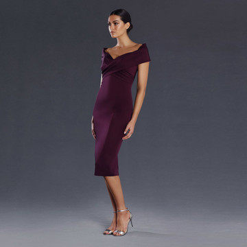 Jadore Audrina Off-Shoulder Cocktail Dress JX075