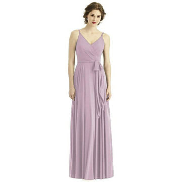 Draped Wrap Chiffon Maxi Dress with Sash By After Six Bridesmaid 1511 in 63 colors