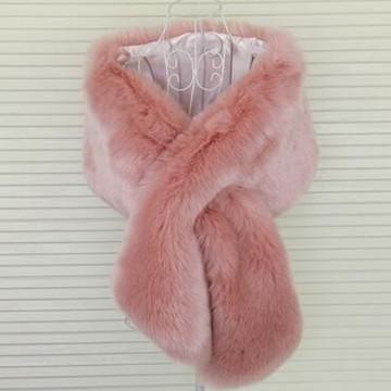 True Romance Fur Shawl Dusty Pink