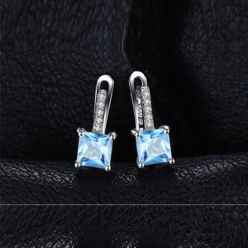 Princess Cut Hoop earrings