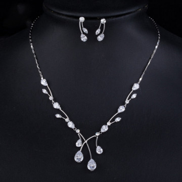 Water Drop Necklace and Earring set