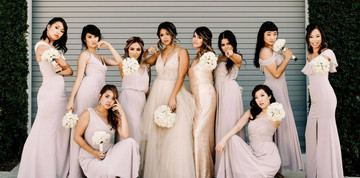 squad goals Social Bridesmaids Dress 8190