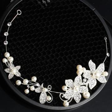 Pearl Diamante Bridal Headpeice