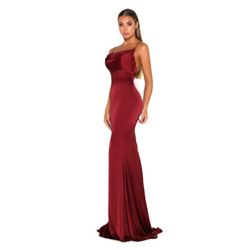 Dana Satin Dress Red by Portia & Scarlett
