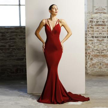 Jadore JX1042 Juliet Dress in wine