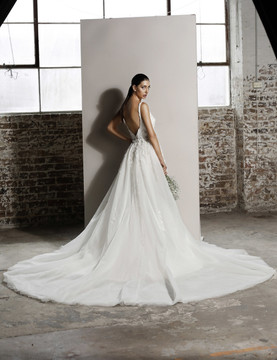Aubrey Wedding Overlay Skirt W111 by Jadore Bridal