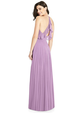 Ruffled Strap Cutout Wrap Maxi Dress By Dessy Bridesmaid 3021 in 63 colors