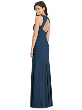 Dessy Bridesmaids 3029Diamond Cutout Back Trumpet Gown with Front Slit by Dessy Bridesmaids 3029 in 34 colors