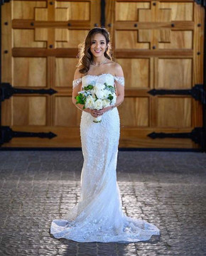 Gorgeous Calla Blanche Bride Aiko in Shannon 19111 with Customised Sleeves
