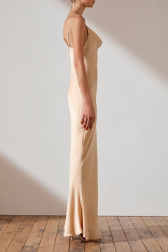 Shona Joy Bias Cowl Slip Dress - Champagne