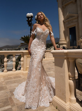 Alice Wedding Gown H1377 by Moonlight Bridal