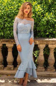 Gemma Dress Teal By Miss Holly Blue