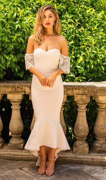 Luciana Dress By Miss Holly Nude