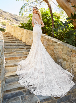 Lucia H1361 by Moonlight Bridal in Ivory/Taupe/Nude in size 8