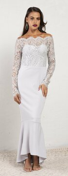 Diana Dress Silver By Miss Holly