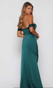 Maisy Emerald Green Dress By Elle Zeitoune